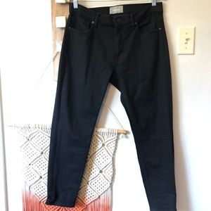 Everlane Black Dark Wash Ankle Skinny Jeans